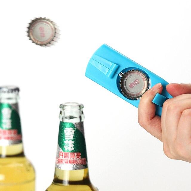 Cap Gun Beer Opener Bottle Flying Cap Launcher Shooter Party Drinking Game Toy Kitchen Gadget Bar Accessories destapador pistola 6