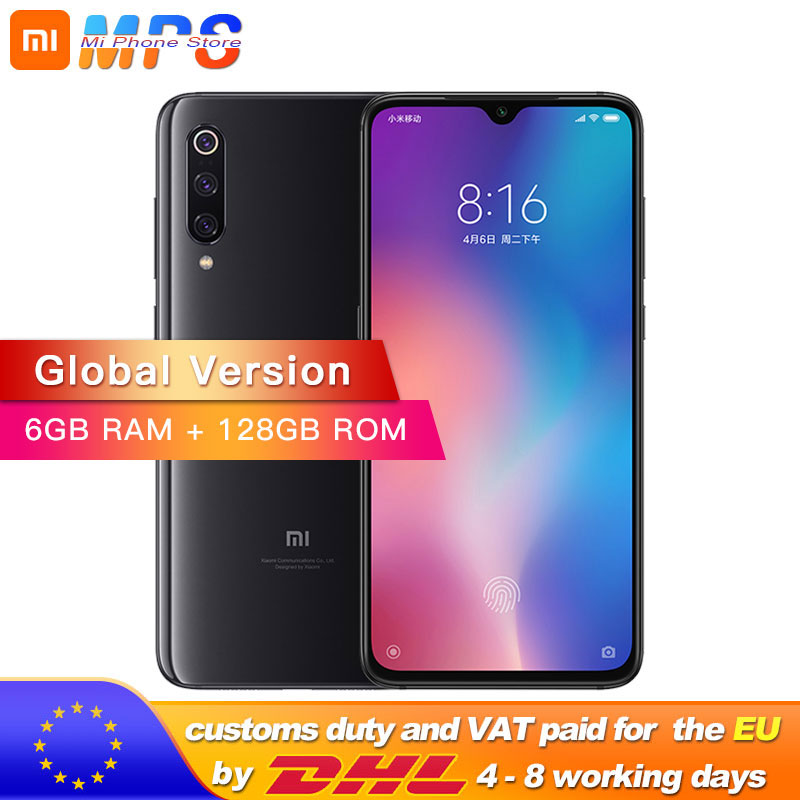 <font><b>Global</b></font> Version <font><b>Xiaomi</b></font> Mi 9 <font><b>Mi9</b></font> 6GB <font><b>128GB</b></font> Smartphone Snapdragon 855 Octa Core 6.39