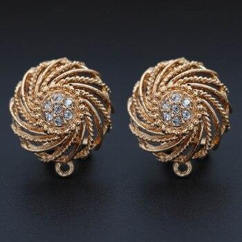 10pairs Women Hanging Earrings Making Whirl Earrings Linkers Connectors DIY Nigerian Drop Dangle Earring Jewelry Accessories фото