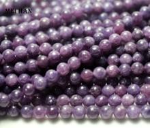 阪ナチュラル (2 ストランド/セット) 6 ミリメートル紫色の鱗のためのスムーズなラウンドビーズジュエリー作成デザイン宝石石diy braclet