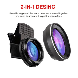 Image 2 - 4K HD Super 15X Macro Lens for Smartphone Anti Distortion 0.45X 0.6X Wide Angle Lens 2 in 1 Mobile Phone Lense Camera Kit