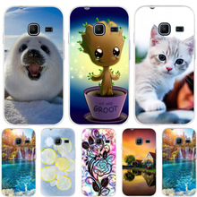 For Case Samsung Galaxy J1 Mini J105F Cover Cat Pattern For Samsung Galaxy J1 Nxt Case Silicone For Samsung J1 Mini 2016 Funda стоимость
