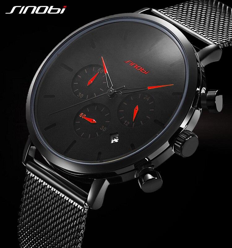 Sinobi montre femmes et hommes montre Top marque de luxe célèbre robe de mode montres unisexe Ultra mince montre-bracelet Relojes Para Hombre