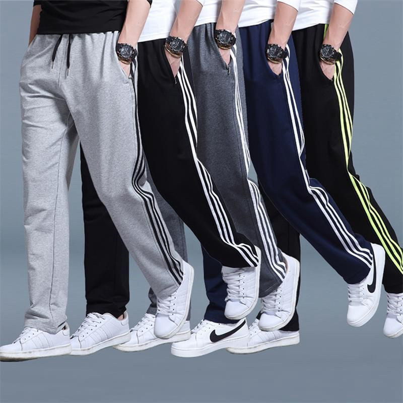 7XL Spring Autumn Brand Gyms Men Joggers Sweatpants Side Striped Joggers Trousers Sporting Clothing Bodybuilding Casual Pants