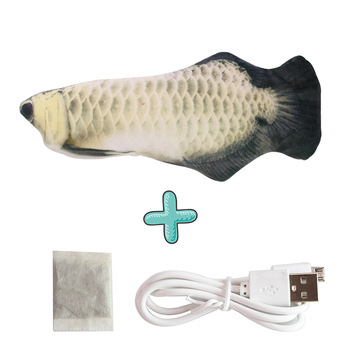 Moving Fish Cat Toy Electronic Flopping Cat Kicker Fish Toy Catnip Fish Toys for Cats Pet Supplies Funny Chew Toy for Indoor Cat 20