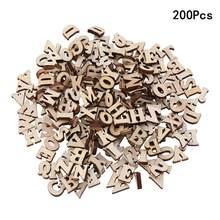 100/200 pçs 15mm diy doodle brinquedo educacional pequeno natural de madeira fatia scrapbooking enfeites diy artesanato (letras em inglês)