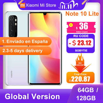 Global Version Xiaomi Mi Note 10 Lite Smartphone 64GB/128GB Snapdragon 730G 64MP Camera 6.47