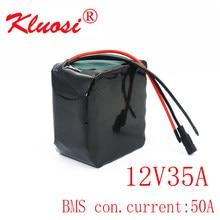 Kluosi 12v 35ah 3s10p 450 watts 12v bateria 12.6v bateria de lítio com 50a bms para a luz solar do carro da criança do carro da excursão do inversor