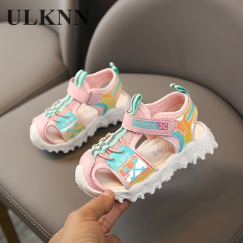 ULKNN Kids Sandals 2020 New Baotou Girls Shoes Students Sport Children