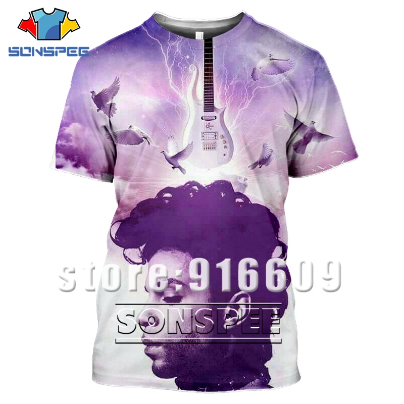Newest Summer 3D Print Prince Tshirt Men Women Anime O-neck Guitar Bass Gym T-shirt Casual T Shirts Harajuku Tees Fashion Shirts