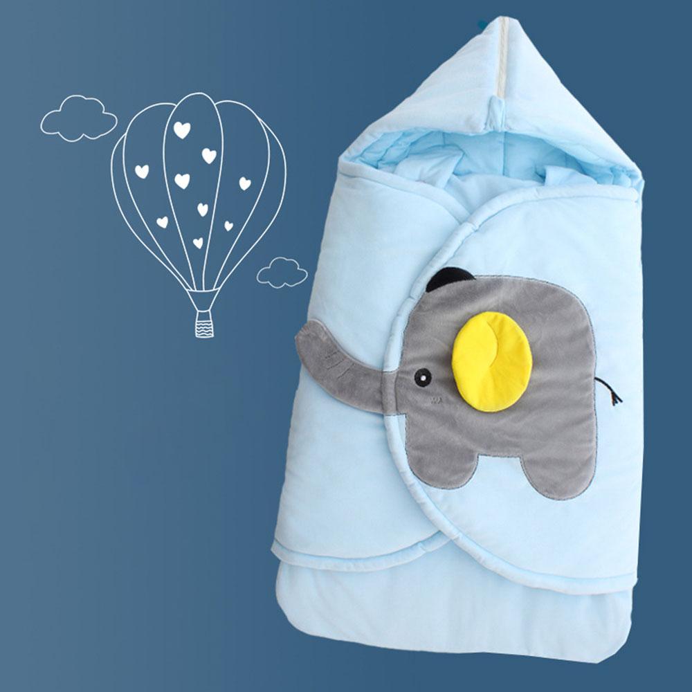 Baby Cocoon Newborn Baby Sleeping Bag Swaddle Wrap Carriage Sack Cartoon Elephant Design Diaper Changing Sleep Bag