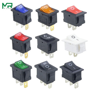 цена на 1PCS KCD1  2PIin 3Pin Boat Car Rocker Switch 6A/10A 250V/125V AC Red Yellow Green Blue black  Button Best Price KCD1