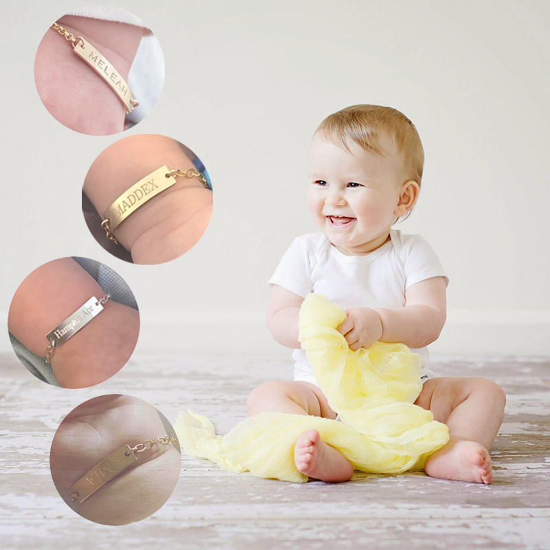 Newborn Baby Name Birth Date Of Year Bracelets Stainless Steel Free Children