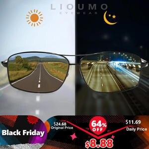 Chameleon Glasses Driving-Goggles Lioumo Top Polarized Anti-Glare Women Photochromic