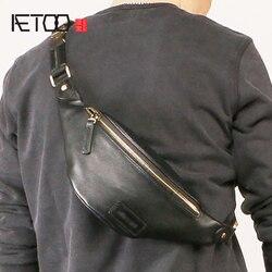 AETOO Männer mode schräge brust tasche, outdoor sport casual reiten trend männer taschen,