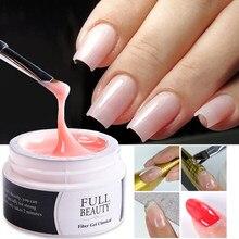 1 коробка для наращивания ногтей Гель-розовый, белый, прозрачный поли, УФ гель для наращивания ногтей пальцев расширения для формирования ко...