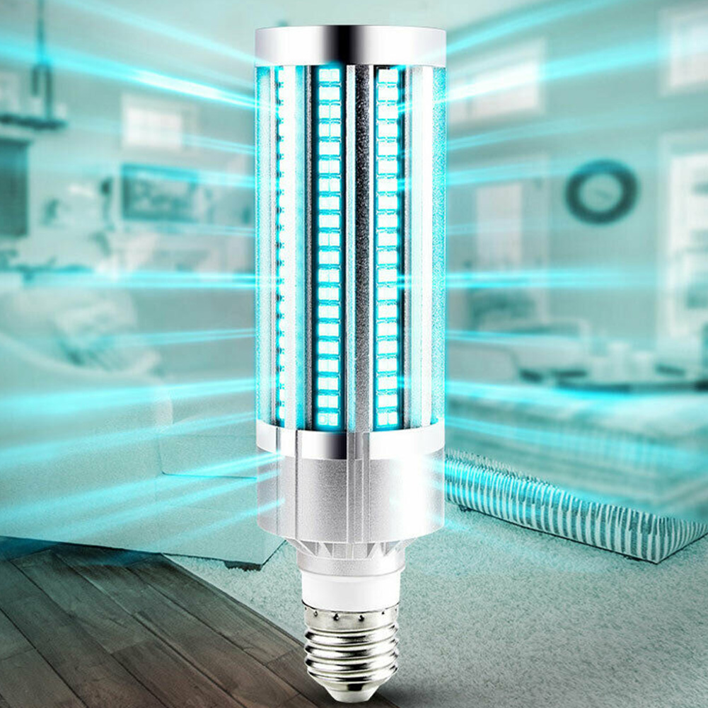 60W UV Germicidal Lamp Ozone Remote Control UVC Ultraviolet Led Corn Bulb Disinfection Sterilizer E27 Ozone Lights For Home