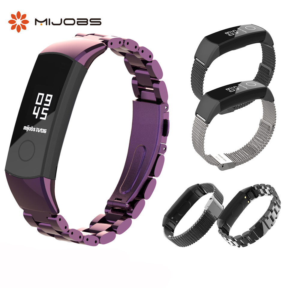 Metal Wrist Strap For Huawei Honor Band 4 Bracelet Stainless Steel Accessories For Honor Band 4 Wristband NFC Honor Band 5 Strap