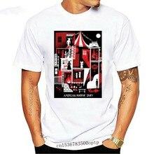 Camiseta de algodón Unisex, camiseta de manga corta con estampado de Horro Story, Casa de los horror, 100% peso ligero