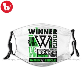 Winner Kpop Mouth Face Mask WINNER Collage Facial Mask Polyester Pretty for Adult with 2 Filters Mask