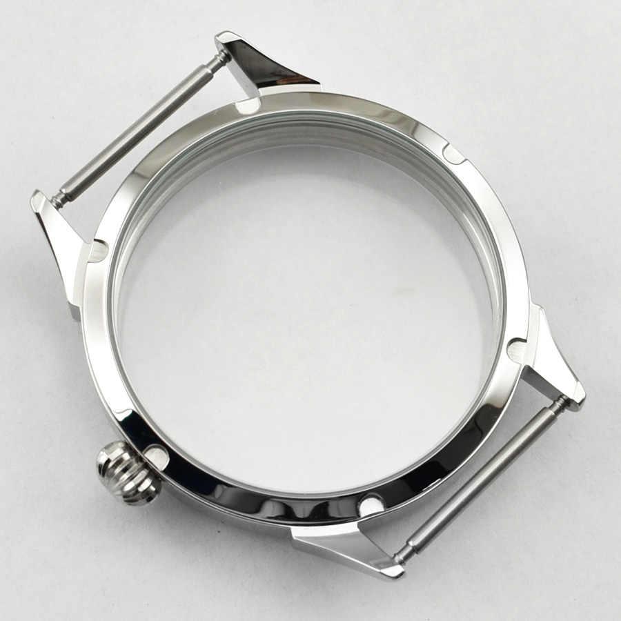 Goutent ETA 6497 6498 Gaviota ST36 movimiento 42mm reloj de acero inoxidable caso