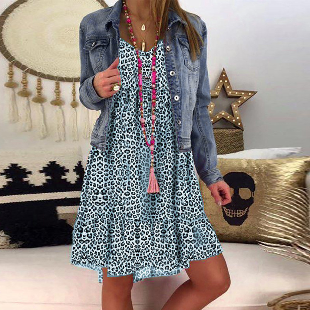H7377a6fe2b6f4a08be23efe262d8c9f2O JAYCOSIN plus size dress women summer dress Loose Ladies dresses woman Leopard Print Long Sleeve Dress girl vestidos wholesale 7