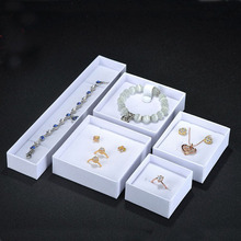 High Quality Square White Black Paper Boxes for Jewelry Ring Necklace earring Packaging Jew