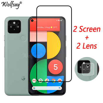 Full Cover Tempered Glass For Google Pixel 5 Screen Protector For Google Pixel 5 Camera Glass For Google Pixel 5 Glass 6.0 inch