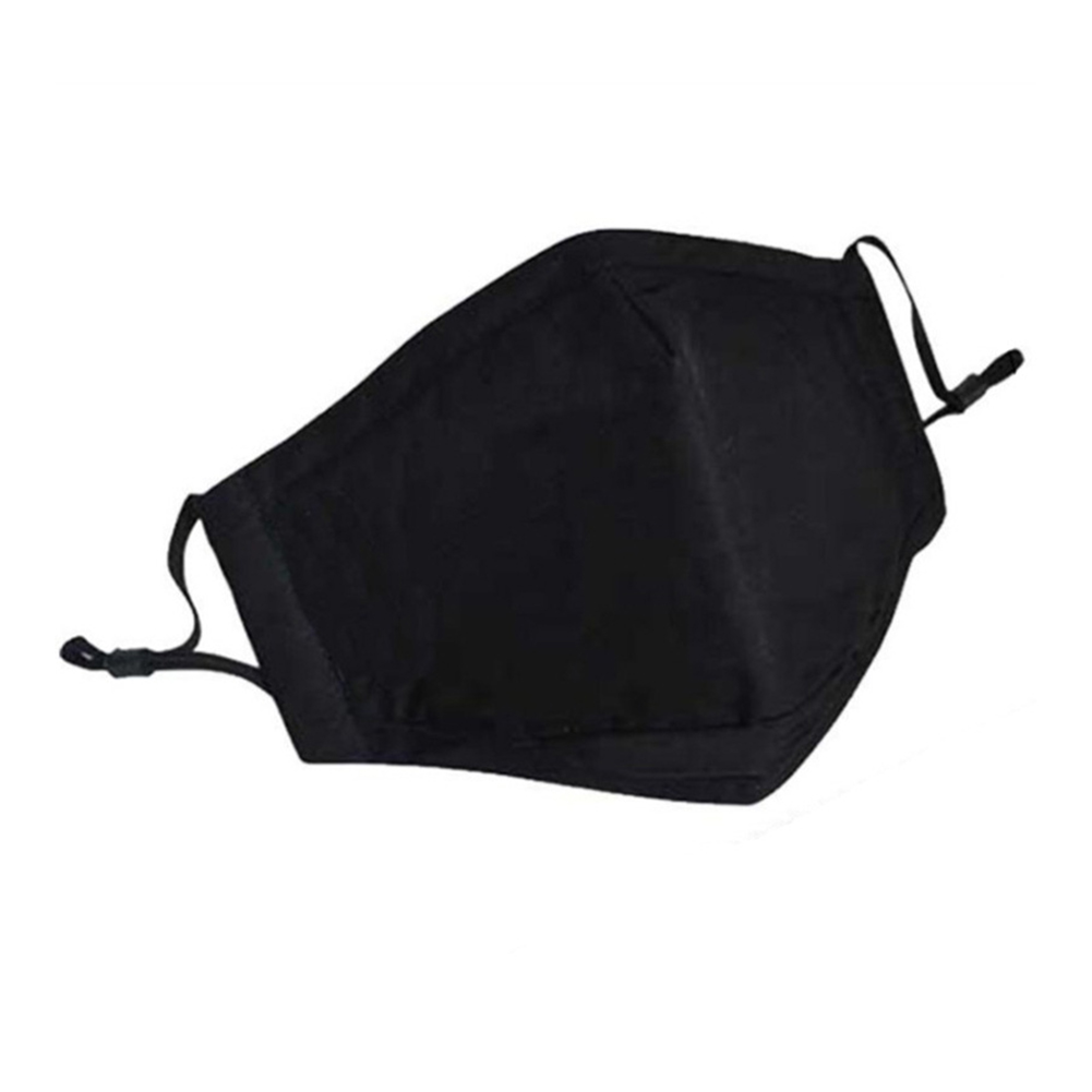 1pc Dustproof Mask Cotton Outdoor Protective Filter 3 Layers Unisex Face Cover Recyclable Mouth Cover Without Filters