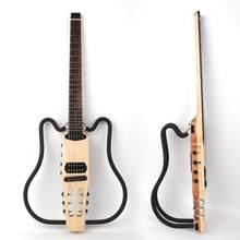 Boa qualidade sem cabeça elétrica silenciosa viagem guitarra efeito embutido portátil dobrável frete grátis
