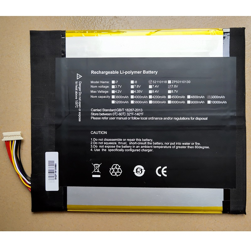 5000mAh Battery for Teclast X5 Pro Tablet PC New Li-Po Polymer Rechargeable Accumulator Replacement QT31150165P H28154165P 7.4V