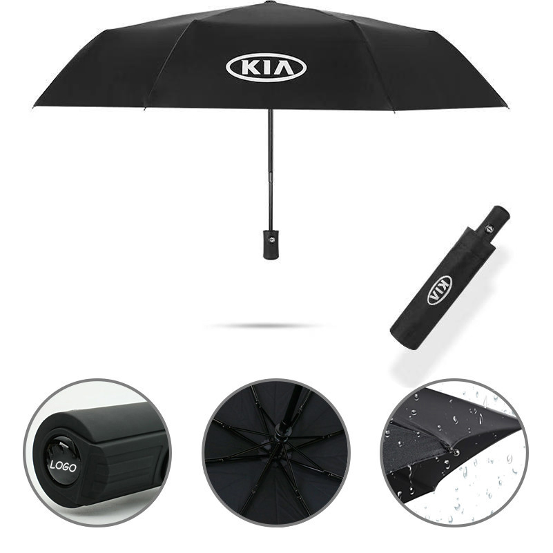 1X Summer Sun UV Folding Sunscreen Umbrella Car Portable Rain Windproof Shade For KIA Ceed Sportage 2018 2014 2011 2012 Rio 3 4