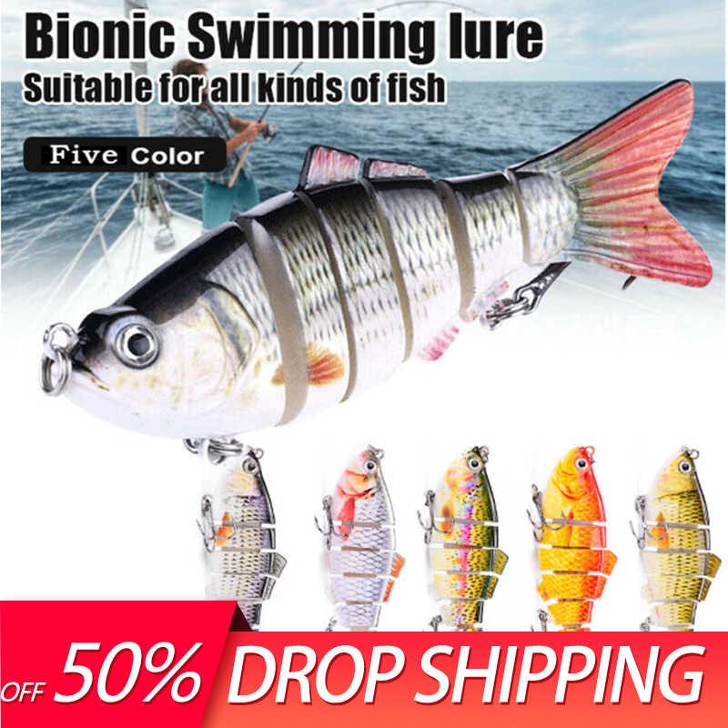 Bionic Swimming Lure Colorful Minnow Bass Tackle Fishing Gear Plastic Hard Bait