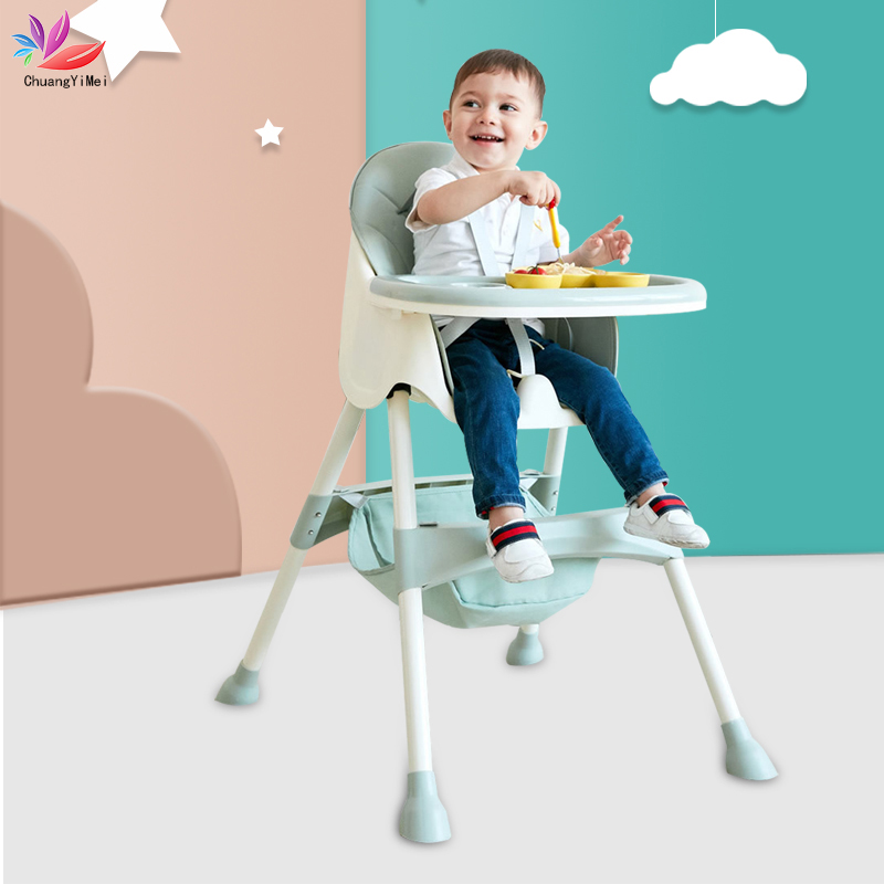 Portable Baby Seat Baby Dinner Table Feeding Chair 2 In 1 Multifunction Adjustable Folding High Chair Booster Seat For Children