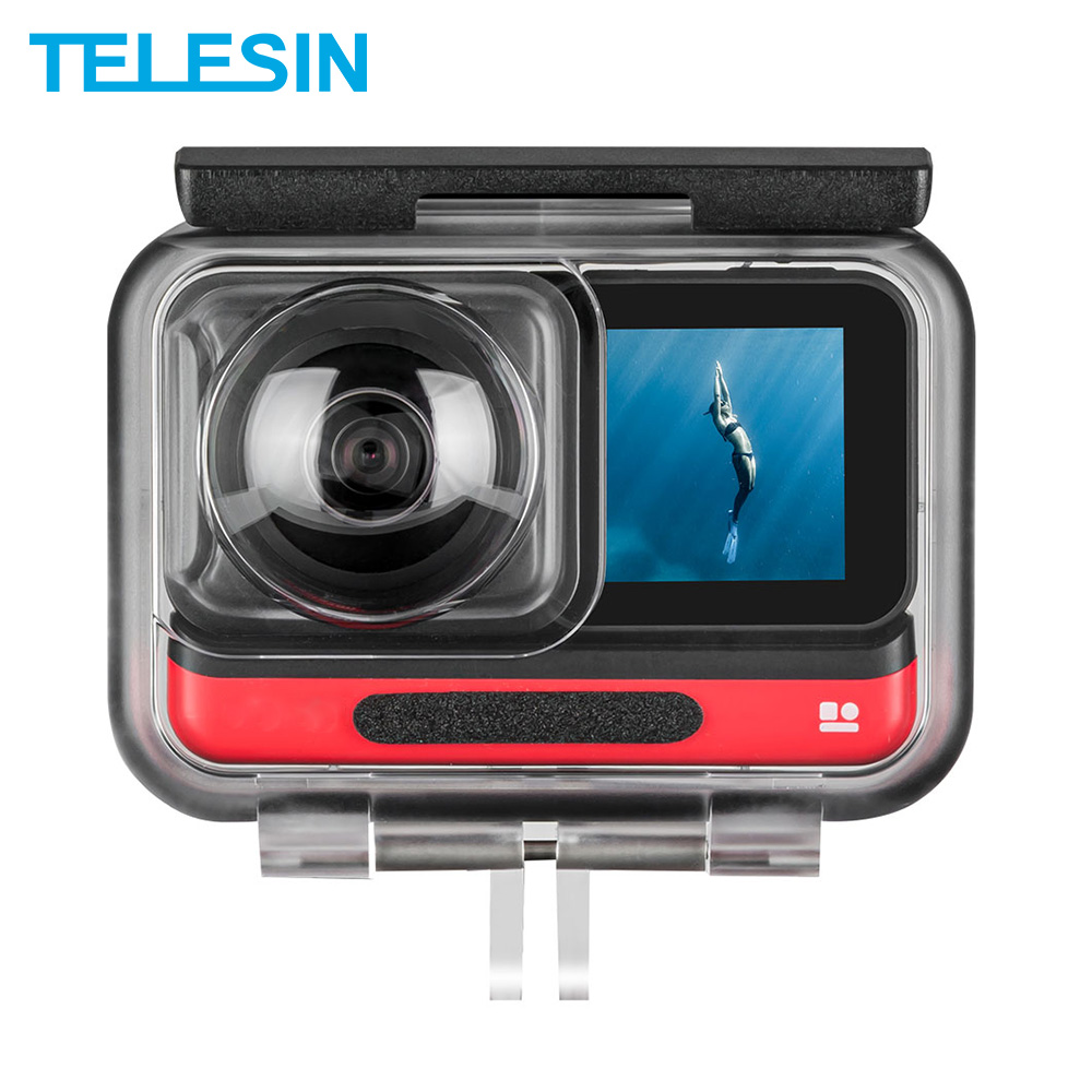 TELESIN 45M Underwater Housing Case Waterproof Protector Cover For Insta360 ONE R 4K 360 Edition Camera Case Accessories
