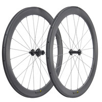 free shipping 23mm 55C Carbon road Wheels Novatec Bicycle Rim Black Matt stBike Wheelset