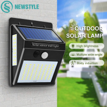 100 LED Solar Light Outdoor Solar Lamp PIR Motion Sensor Wall Light Waterproof Solar Powered Sunlight for Garden Path Decoration