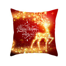 Hot Sale 44*44cm Christmas Style Pattern Throw Pillow Cushion Cover Merry Christmas Car Home Sofa Decorative Pillowcase 5zHH293(China)