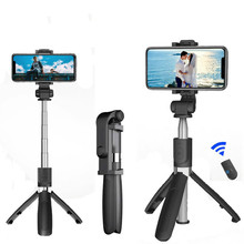 3 in 1 Wireless Bluetooth Selfie Stick Foldable Tripod Expandable Monopod with Handheld Remote Control for iPhone IOS Android