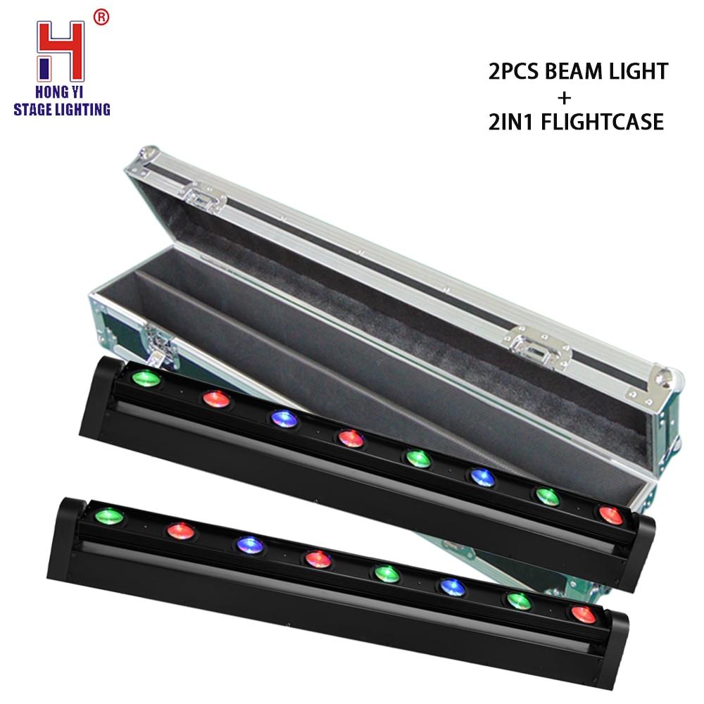 dj light 8x12W RGBW 4in1 Beam LED Moving Head DMX Stage Lights professional lighting equipment with flight case (2pcs/lot)
