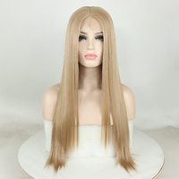 13X6 Synthetic Japan's 613 Blonde Lace Front Wig Hair 180% Honey Blonde Straight Extensions