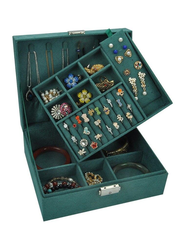 Jewelry-Box Gift-Box Velvet Space Large Double-Layer European