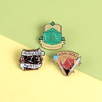 D&D juego maestro Punk esmalte pines gemas accesorios Raiders arma broches bolsa de insignias ropa alfileres de solapa joyería regalos para los fans del juego
