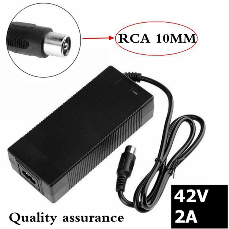 1 pc best price 42V2A 42V <font><b>2A</b></font> lithium battery <font><b>charger</b></font> for <font><b>36V</b></font> lithium battery pack RCA plug 42V2A <font><b>charger</b></font> image