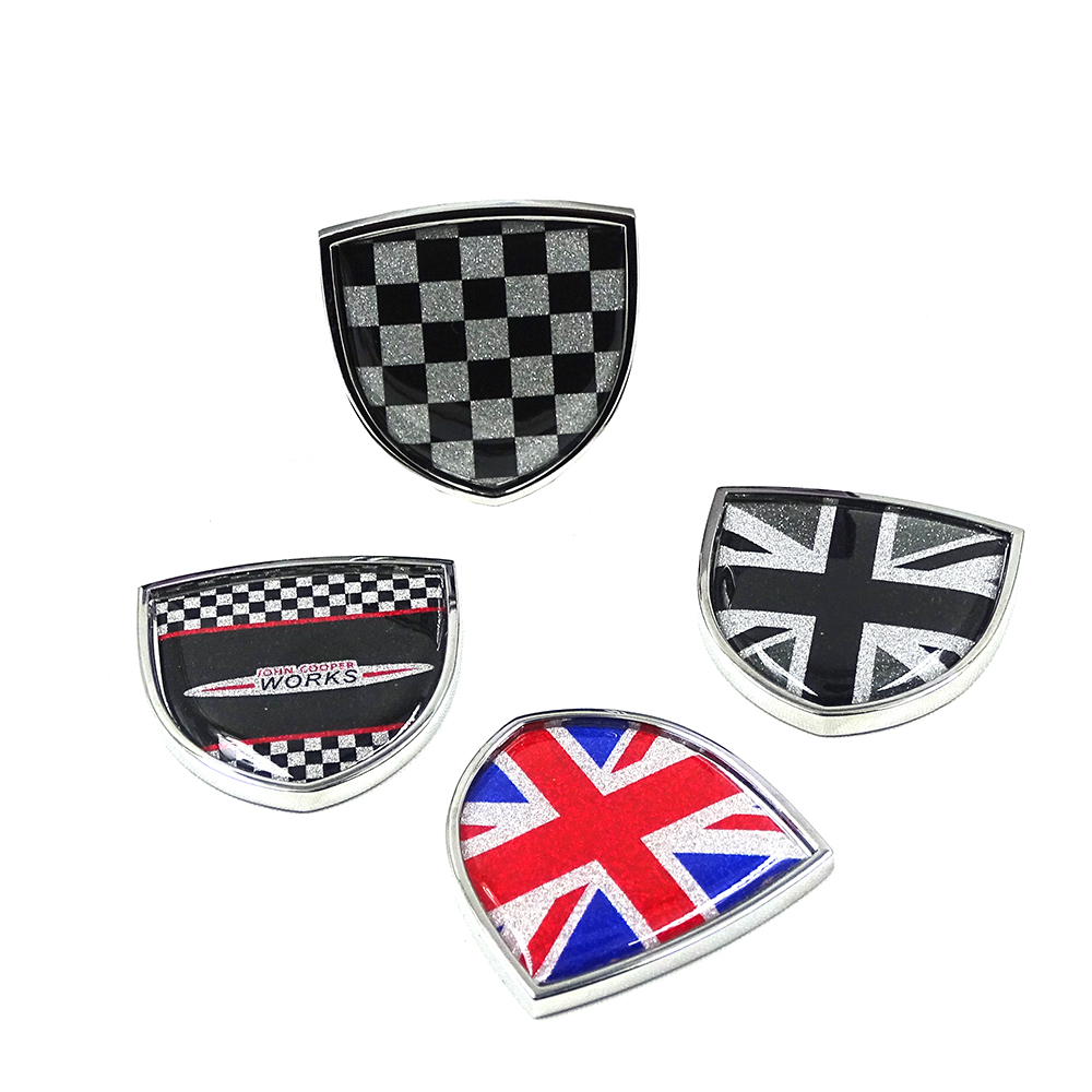Image 2 - Car Styling Metal Emblem Badge Sticker Decals Decorative For Mini Cooper JCW One Countryman Clubman F55 R60 F60  Car Accessories-in Car Stickers from Automobiles & Motorcycles