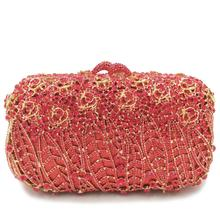female Hollow Out Dazzling Crystal wallet Women Evening Bags Hard Case Diamond Minaudiere Ladies Party Clutch Wedding Handbag