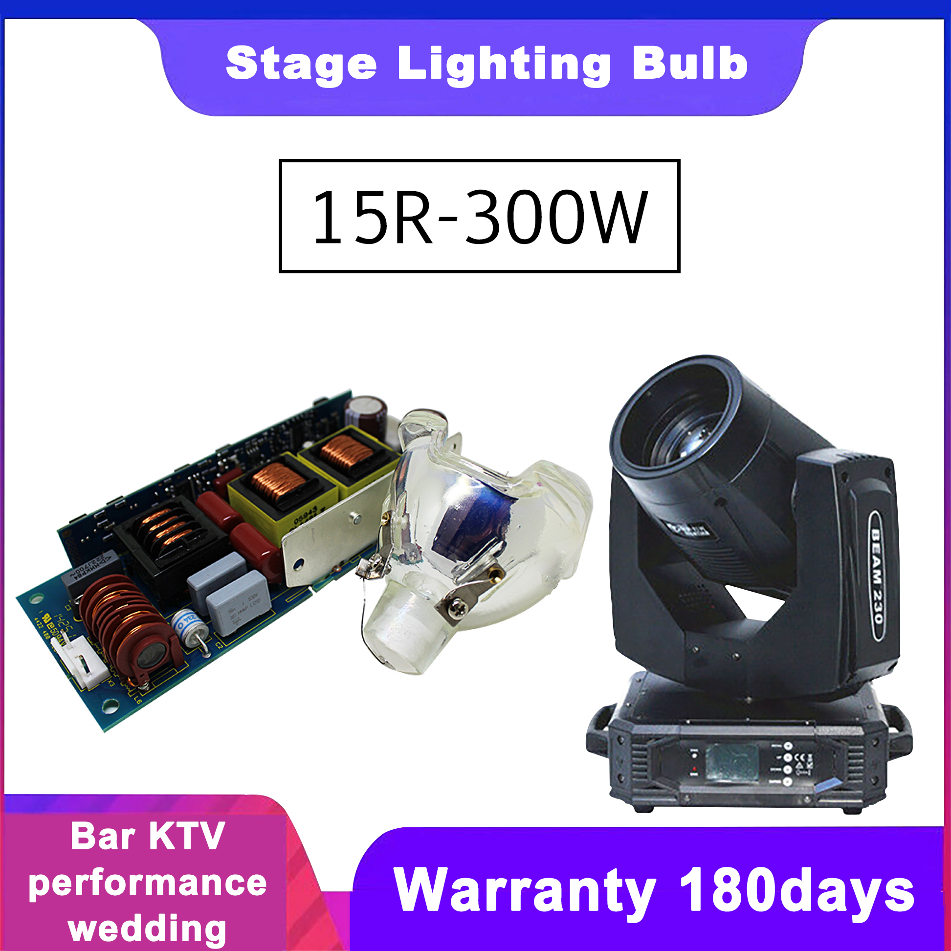Starlight 10R 280W/15R 330W Moving Head Beam Lamp With Ballast (power Supply)