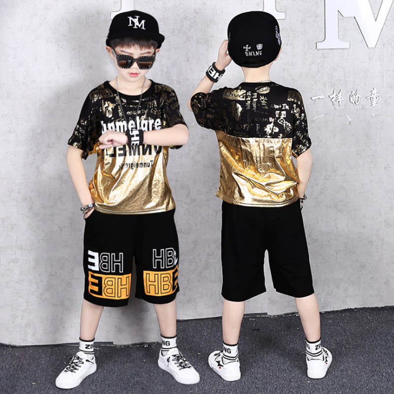 Teenage Children Boys Clothing Set Summer 2021 Letter T Shirt Hawaiian Shorts Teens Kids Boys Clothes For 6 8 10 12 13 14 Year 2