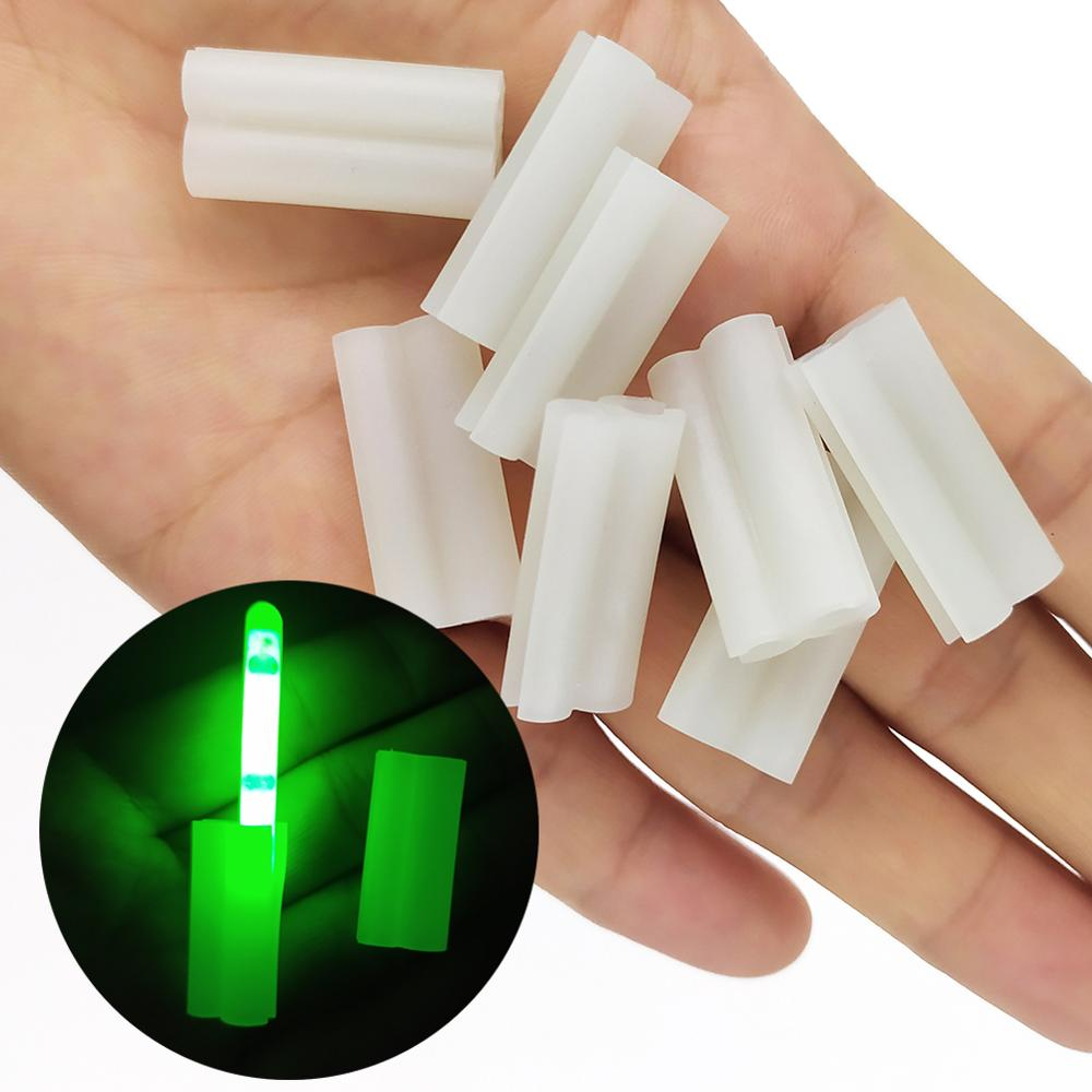 10-pieces Luminous Fishing Lightstick Clip Glow Stick Holder Night Fishing Accessories  Fishing Light Clip For Rod Tip