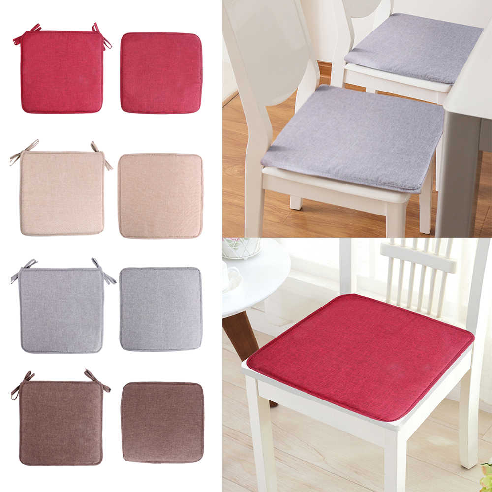 Solid Color Square Seat Pad Chair Cushion Non-slip Sofa Home Decorative Soft Padchair Chairs Pillow Seat Cushion 40x40cm